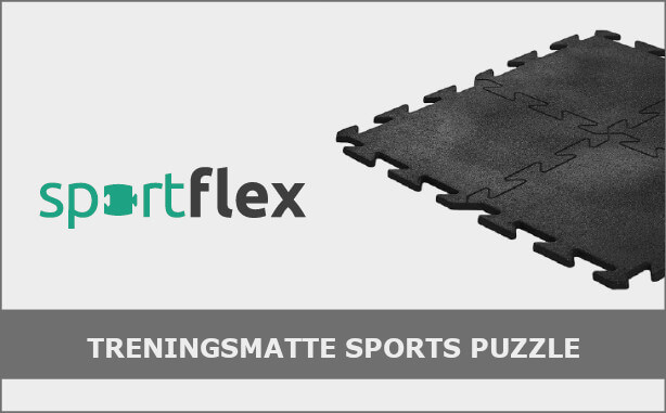 sportflex treningsmatte sports puzzle